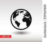 globe earth vector icon | Shutterstock .eps vector #559569685