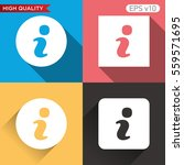 colored icon or button of info... | Shutterstock .eps vector #559571695