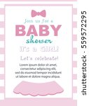 baby girl shower invitation... | Shutterstock .eps vector #559572295