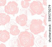 seamless floral pattern with... | Shutterstock .eps vector #559575079