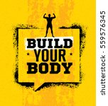 build your body. inspiring... | Shutterstock .eps vector #559576345