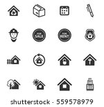 real estate vector icons for... | Shutterstock .eps vector #559578979