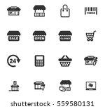 shop vector icons for user... | Shutterstock .eps vector #559580131