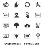 seo vector icons for user... | Shutterstock .eps vector #559580155