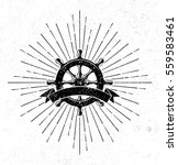 vintage steering wheel symbol... | Shutterstock .eps vector #559583461