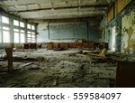 Abadoned School Class Room At...