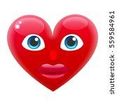 heart girl smile emoticon. for... | Shutterstock .eps vector #559584961