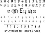 gothic font    vector art  | Shutterstock .eps vector #559587385