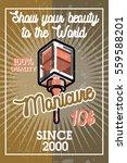 color vintage manicure banner | Shutterstock .eps vector #559588201