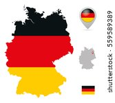 germany map in national flag... | Shutterstock .eps vector #559589389