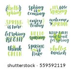 vector set of hand written... | Shutterstock .eps vector #559592119