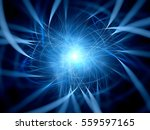 blue glowing multidimensional... | Shutterstock . vector #559597165
