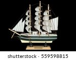 Ship Sailboat Wooden Model On ...