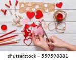 valentines day scrapbooking ... | Shutterstock . vector #559598881