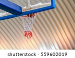 basketball going through the... | Shutterstock . vector #559602019