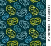 cute seamless pattern with... | Shutterstock .eps vector #559605859
