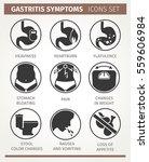 gastritis symptoms. infographic ... | Shutterstock .eps vector #559606984