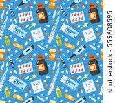 pharmacy pattern with medical... | Shutterstock .eps vector #559608595