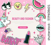 fashion and beauty banner with ... | Shutterstock .eps vector #559608601
