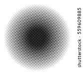 halftone circle vector symbol... | Shutterstock .eps vector #559609885