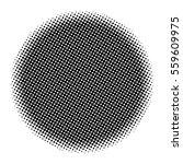 halftone circle vector symbol... | Shutterstock .eps vector #559609975