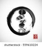 pebble zen stones balance in... | Shutterstock .eps vector #559610224