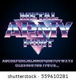 retro future military army sci... | Shutterstock .eps vector #559610281