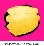 vector golden brush stroke for... | Shutterstock .eps vector #559611601