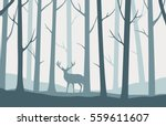 vector landscape with blue... | Shutterstock .eps vector #559611607
