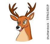 hand drawn deer head  picture...   Shutterstock .eps vector #559614019