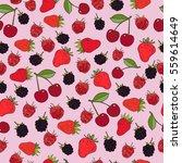 juicy berries seamless pattern. ... | Shutterstock .eps vector #559614649