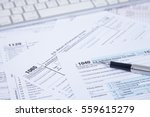 us tax form background | Shutterstock . vector #559615279