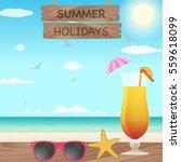 vector summer holiday... | Shutterstock .eps vector #559618099