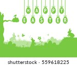green easter illustration with... | Shutterstock . vector #559618225