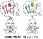 vector illustration of babies.... | Shutterstock .eps vector #559618441