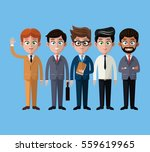 cartoon men business fashion... | Shutterstock .eps vector #559619965