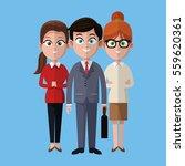 cartoon man and women... | Shutterstock .eps vector #559620361