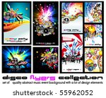 set of 9 abstract music... | Shutterstock .eps vector #55962052