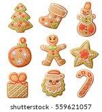 gingerbread cookies set... | Shutterstock .eps vector #559621057