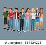 teens group fashion student... | Shutterstock .eps vector #559624225