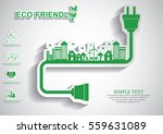 ecology connection electrical...   Shutterstock .eps vector #559631089