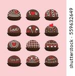 valentine chocolate | Shutterstock .eps vector #559632649