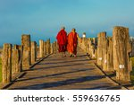 Buddhist Monks Walking At U...