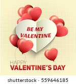 valentines day flyer. vector...   Shutterstock .eps vector #559646185