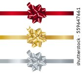 set of realistic shiny gift... | Shutterstock .eps vector #559647661