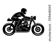 cafe racer silhouette isolated... | Shutterstock .eps vector #559648345