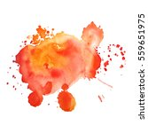 abstract hand drawn watercolor... | Shutterstock .eps vector #559651975