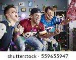 american football fans among... | Shutterstock . vector #559655947
