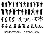 children basic poses  actions ... | Shutterstock .eps vector #559662547