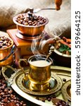 coffee in the oriental style... | Shutterstock . vector #559664125